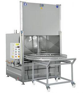 Industrieel reinigen en ontvetten machineonderdelen